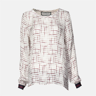 Roqa Printed Blouse - 36 - White/Red