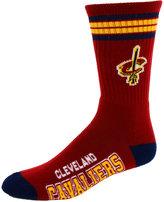 For Bare Feet Cleveland Cavaliers 4 Stripe Deuce Crew 504 Sock