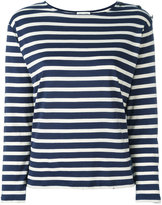 Saint Laurent striped top - women - Cotton - XS