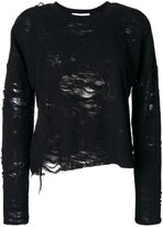 IRO distressed layer jumper - women - Cotton/Polyester/Rayon - S