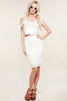 For Love & Lemons Little Darling Skirt in White