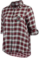 Unbranded Women's Plus Size Concepts Sport Garnet/Black South Carolina Gamecocks Forge Rayon Flannel Long Sleeve Button-Up Shirt
