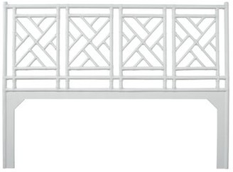 David Francis Furniture Chippendale Open-Frame Headboard Size: King, Color: White