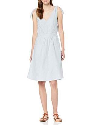Vila CLOTHES Women's Vigladys S/l Dress, Multicolour (Snow White Powder Blue Stripes), 10 (Size: )