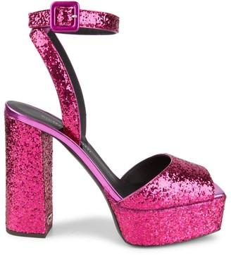 Giuseppe Zanotti New Betty Glitter Platform Sandals