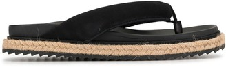 James Perse Jute-Midsole Padded Thong Flip Flops