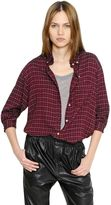 Etoile Isabel Marant Checked Light Wool Blend Flannel Shirt