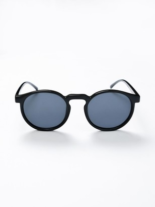 Le Specs Teen Spirit Deux Sunglasses in Black with Black Lens