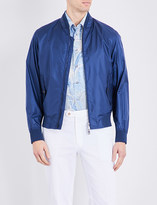 Brioni Stand collar shell bomber jacket