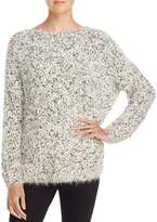 En Creme Metallic Textured Sweater