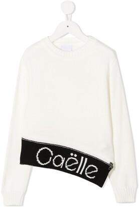 Gaelle Paris Kids Long Sleeve Logo Jumper