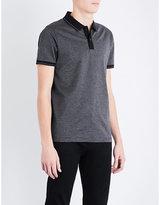 BOSS Striped cotton-piqué polo shirt