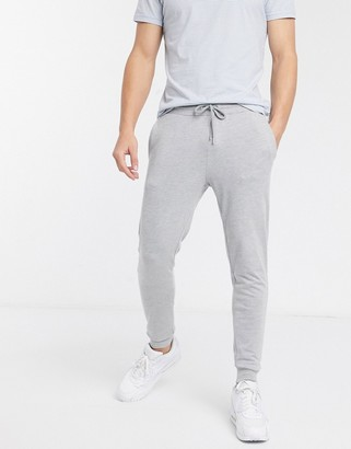 ASOS DESIGN skinny lightweight joggers in grey
