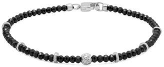 Tateossian Sterling Silver & Black Spinal Beaded Bracelet