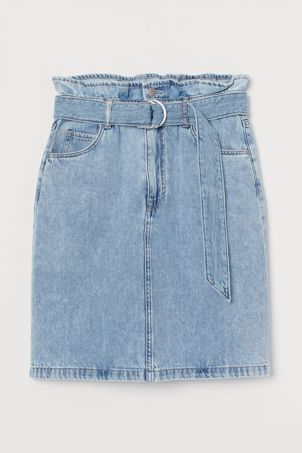 H&M Denim paper bag skirt