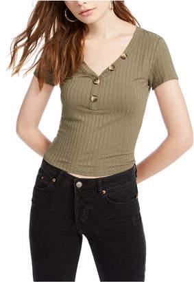 Hippie Rose Juniors' Ribbed T-Shirt
