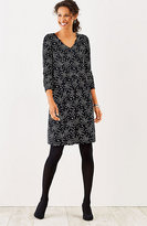 J. Jill Wearever Printed Shirred Dress