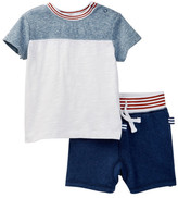 Splendid Rib Crew Top & Short Set (Baby Boys)