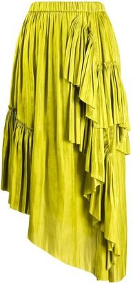 Marques Almeida Ruffled Asymmetric Skirt