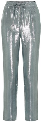 RED Valentino metallic high-rise straight pants