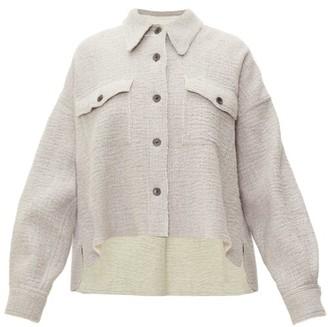 Isabel Marant Dennao Point-collar Wool Shirt - Grey