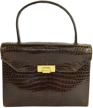 Hermes Brown Crocodile Handbags