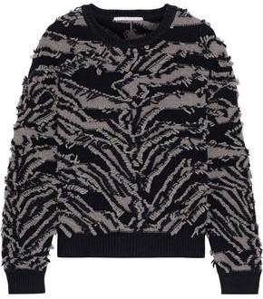 Stella McCartney Frayed Intarsia Wool Sweater
