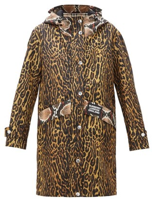 Burberry Leopard Print Technical-nylon Hooded Parka - Womens - Multi