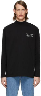 Martine Rose Black Funnel Neck T-Shirt