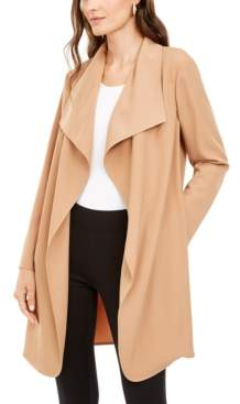 Alfani Petite Wing-Collar Draped-Front Jacket, Created for Macy's