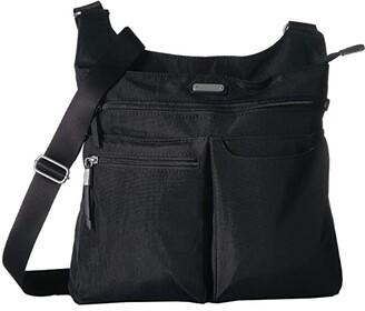Baggallini New Classic On Track Zip Crossbody with RFID Phone Wristlet (Black) Handbags