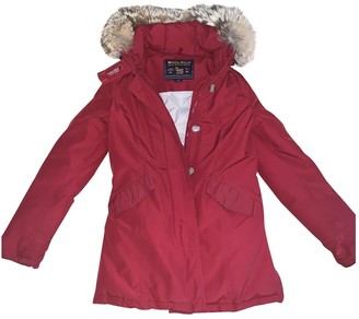 Woolrich Red Cotton Coat for Women