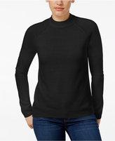 Karen Scott Petite Luxsoft Mock-Neck Sweater, Only at Macy's