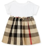 Burberry Rhonda 1 Jersey & Check Poplin Dress, Size 4-14