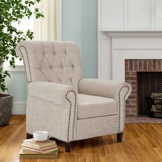 Three Posts Loughborough Manual Recliner Upholstery Color: Cream
