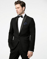 Le Château Satin & Viscose Blend Slim Fit Blazer