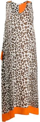 P.A.R.O.S.H. Animal-Print Asymmetric Dress