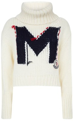 Moncler Knitted Turtleneck Logo Sweater