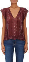 Ulla Johnson Women's Magdalena Embroidered Georgette Top