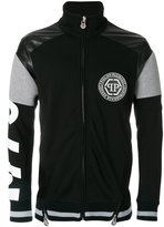Philipp Plein panelled zip cardigan