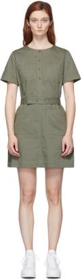 A.P.C. Khaki Seraphie Dress