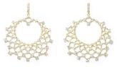 Louise et Cie Jeweled Lattice Hoop Earrings