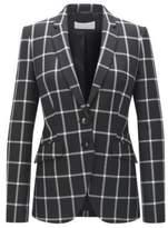 HUGO BOSS Windowpane Wool Blazer Jerima 2 Patterned