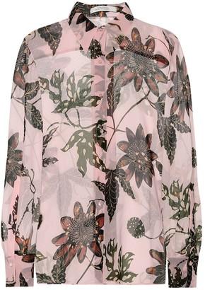 Dorothee Schumacher Floral Transparencies crApe de chine shirt