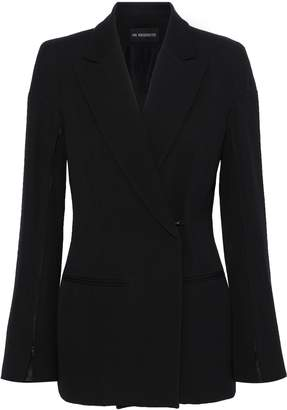 Ann Demeulemeester Rosetti Double-breasted Wool And Cotton-blend Twill Blazer