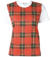 Comme des Garcons checked shortsleeved T-shirt - women - Cotton - S