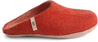 Rusty Egos Copenhagen - Women's Pure Wool Slippers Red - 37 - Red/Orange