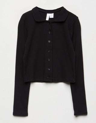 WHITE FAWN Polo Boyfriend Black Girls Shirt