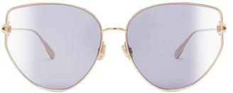 Christian Dior Diorgypsy1 Cat-eye Metal Sunglasses - Blue