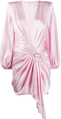 Alexandre Vauthier Satin Gathered Dress